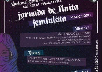 3 al 8 de marzo. Jornadas de lucha 8M: CNT Barcelona