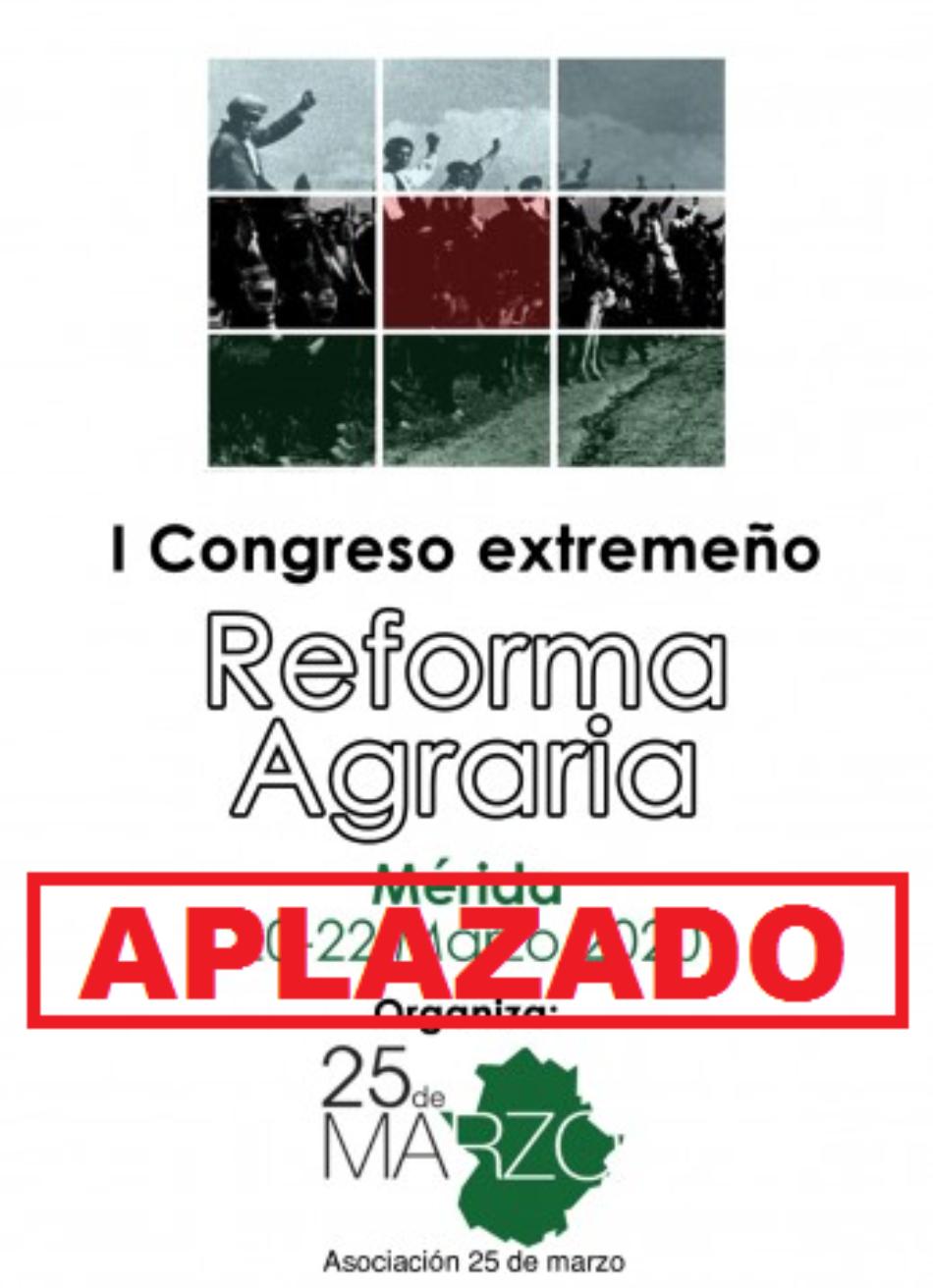 Aplazado el Congreso Extremeño de Reforma Agraria en Mérida