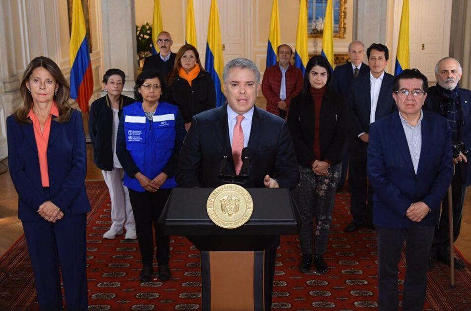 El gobierno de Colombia declara la cuarentena total ante el Covid-19