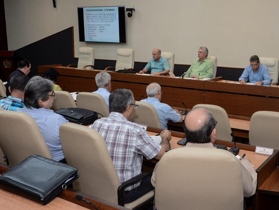 Ante el COVID-19, Díaz-Canel convoca a intensificar las medidas y a seguir trabajando con el pueblo