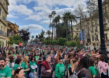 Gran éxito de participación en la huelga educativa del 4M