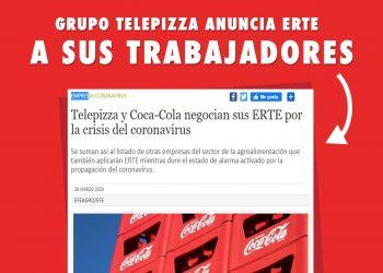 Telepizza y Coca-Cola alegan «causas productivas» para poner en marcha sendos ERTEs