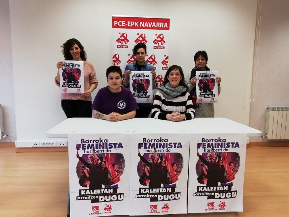 PCE-EPK Navarra y Gazte Komunistak-UJCE Navarra llaman a la participación el 8M