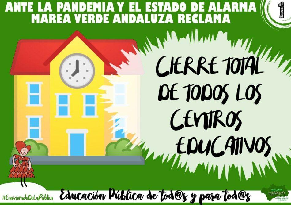 Marea Verde Andalucía ante la pandemia y el estado de alarma