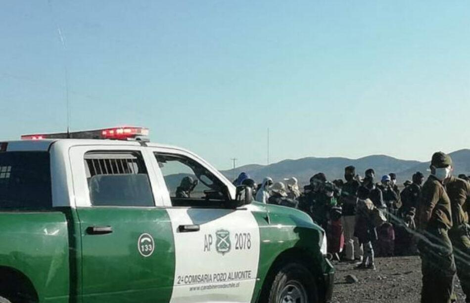 Chile. Bolivianos que iniciaron caminata rumbo a Bolivia fueron interceptados por carabineros