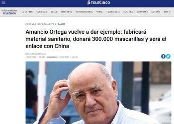 Amancio Ortega donará 300 mil mascarillas mientras aplica un ERTE a 37 mil empleados
