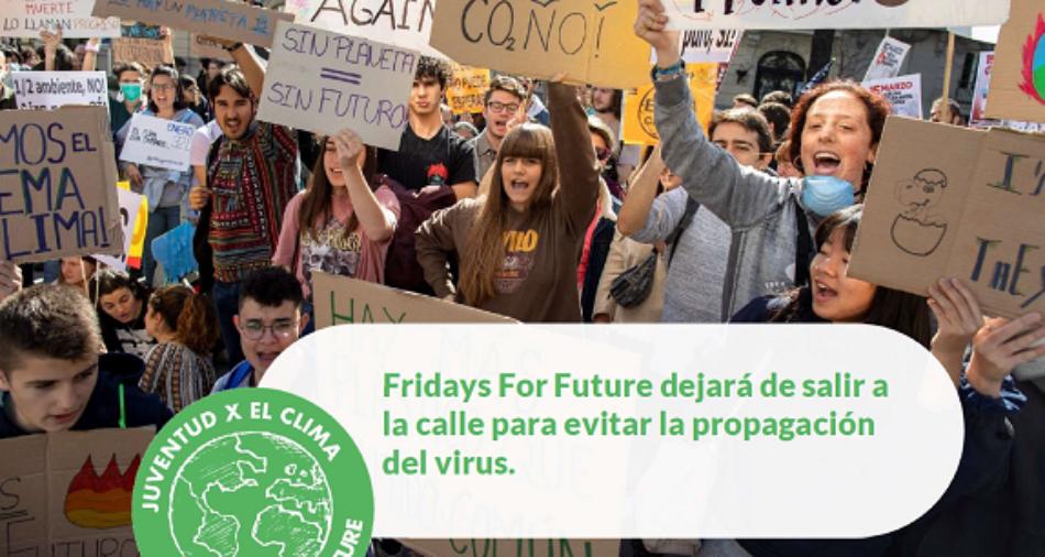 Fridays for Future dejará de salir a la calle para evitar la propagación del virus