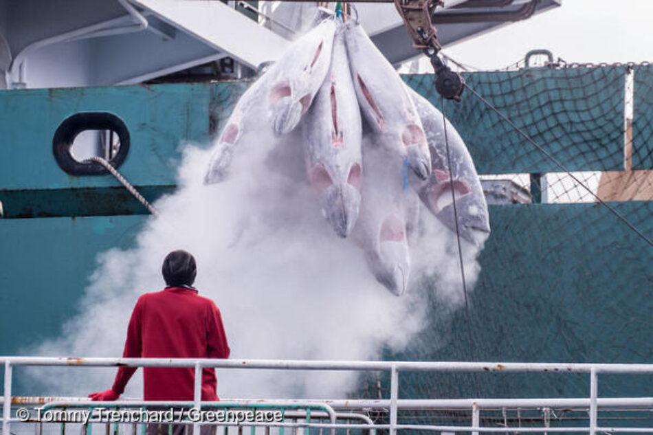 El transbordo de capturas de barcos pesqueros a buques frigoríficos está facilitando la pesca ilegal, que destruye los océanos