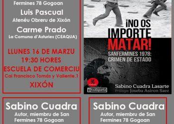 Presentación del llibru de Sabino Cuadra «¡No os importe matar!»