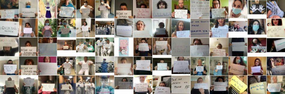 #QueDeJunioNoPase la campaña virtual de apoyo a los trabajadores del Hospital Gómez Ulla
