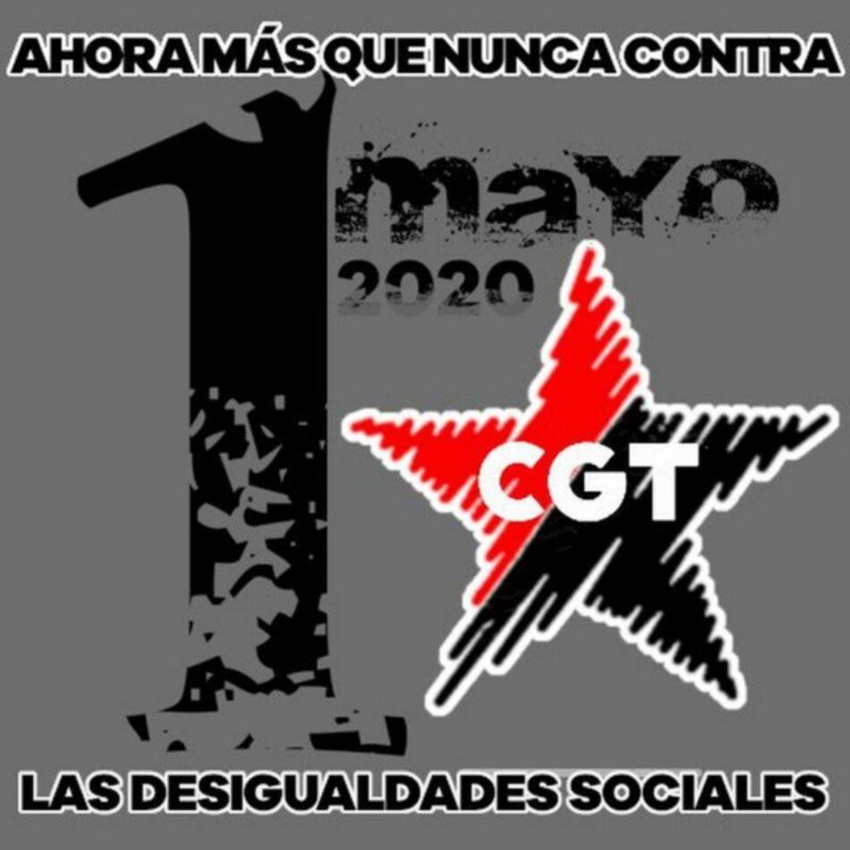 CGT llama a conmemorar el 1º de Mayo luchando contra las desigualdades sociales