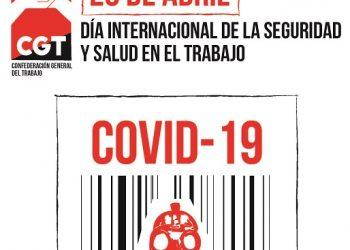 """CGT reivindica la salud de las personas trabajadoras frente a los beneficios de las empresas en plena crisis de """"Coronavirus"""""""