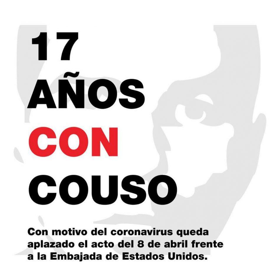 Comunicado Familia Couso: «Por causas de fuerza mayor que todos conocemos, nos vemos ante la necesaria responsabilidad de aplazar la concentración frente a la embajada norteamericana en Madrid»