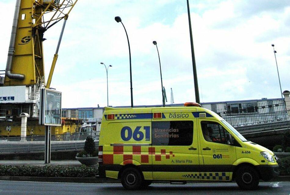 A FGAMT-CIG pide que se fagan test de coronavirus a todos os traballadores e traballadoras do servizo de ambulancias