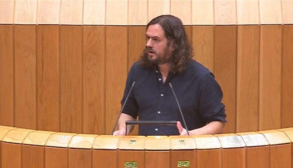 O deputado Antón Sánchez denuncia a actitude do PP por bloquear as comparecencias de Feijóo no Parlamento de Galicia en plena crise do Covid-19