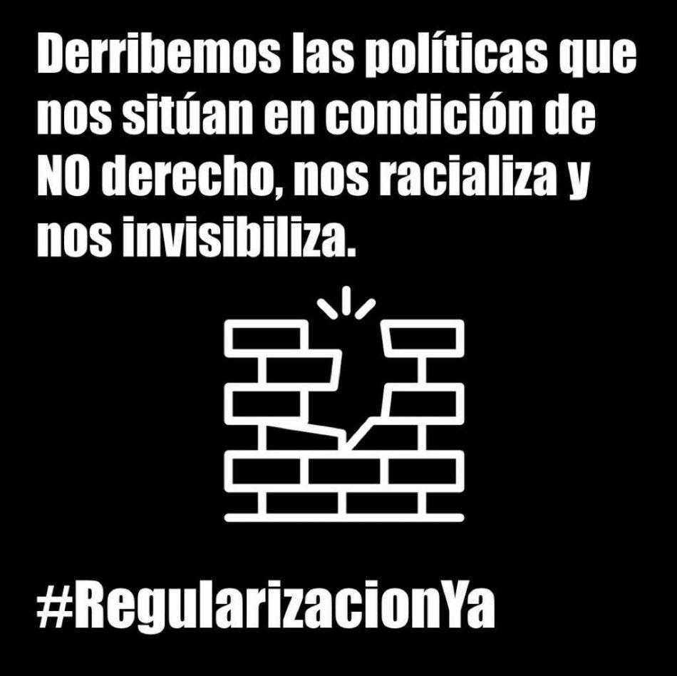 Ante la emergencia sanitaria y social por Covid-19: regularización de las personas migrantes #RegularizacionYa