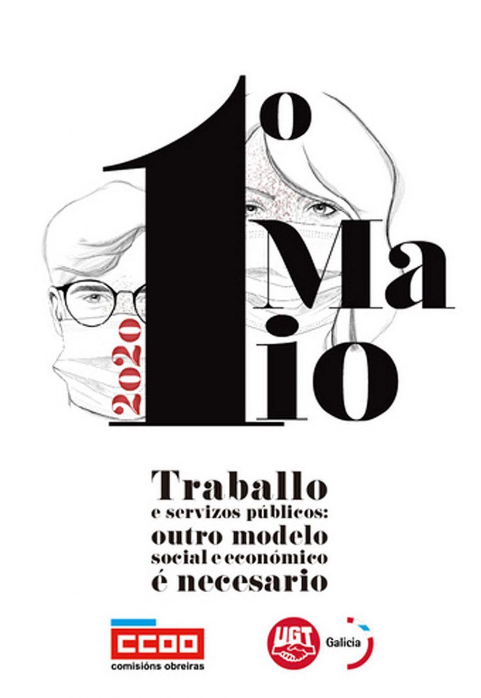 CCOO Galicia / UGT Galicia: Traballo e servizos públicos: outro modelo social e económico é necesario no Primeiro de Maio