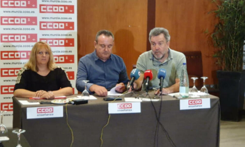 CCOO Enseñanza insta a Educación de Murcia a asegurar las plazas de oposiciones de Secundaria convocadas para 2020