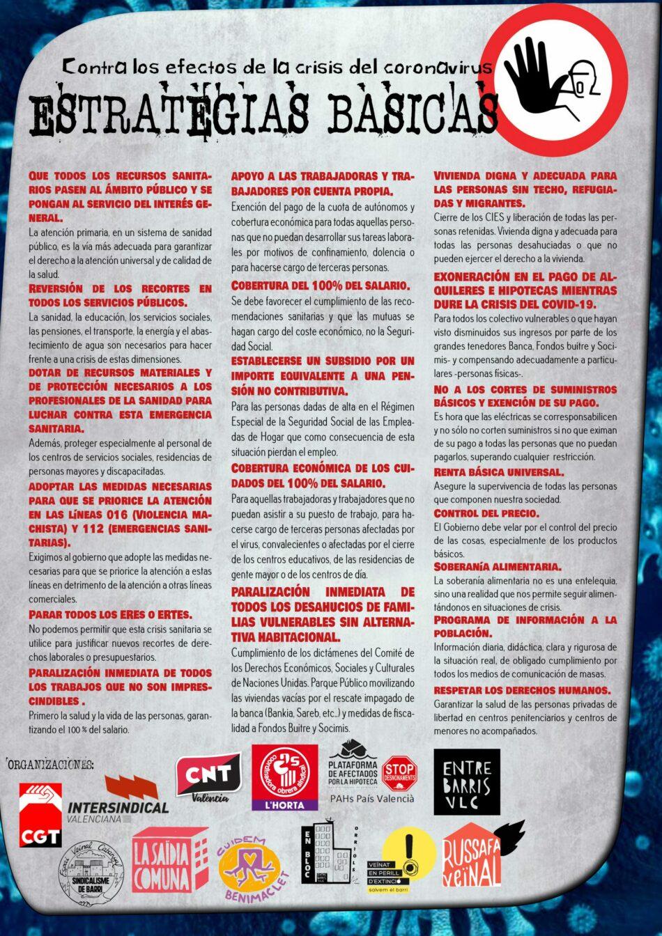 Se constituye el Plan de choque social en el País Valenciano