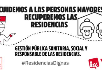 IU exige a la Junta de Castilla y León medidas contundentes para frenar el contagio de Covid-19 en las residencias de mayores