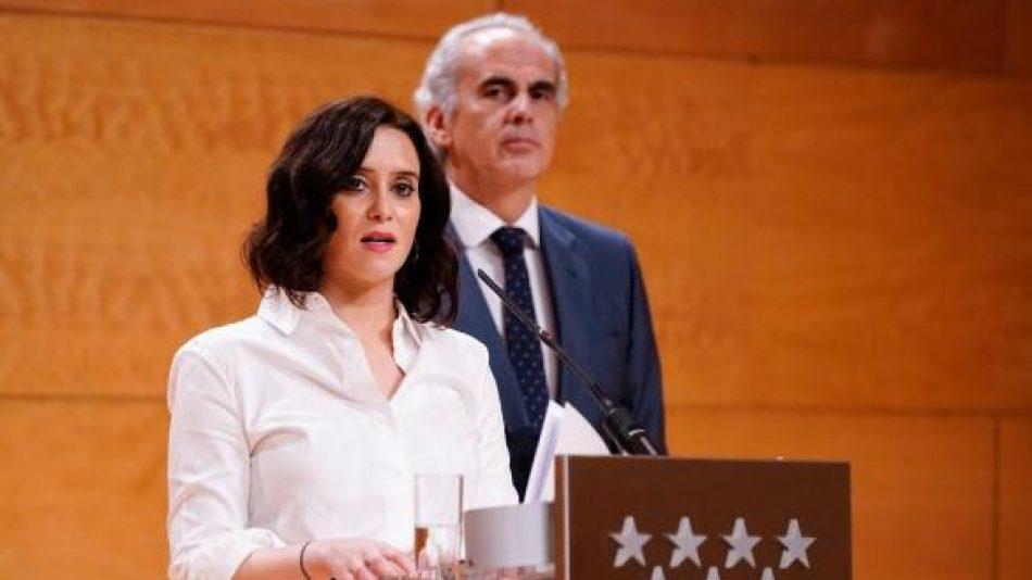 Unidas Podemos Izquierda Unida pide la comparecencia del consejero de sanidad madrileño