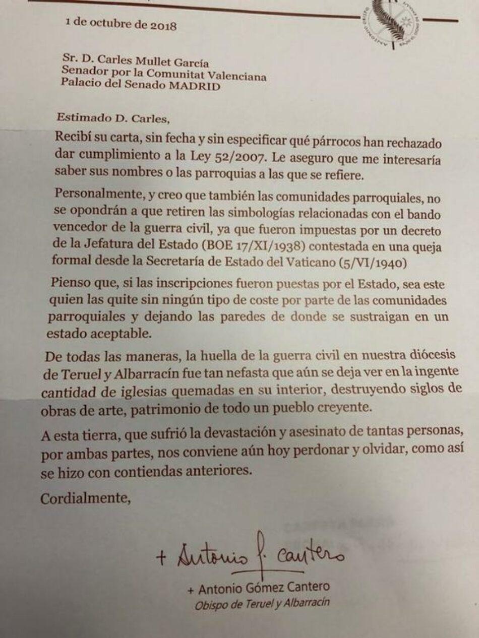 El Gobierno deriva a las autonomías  obligar a los obispados retirar la simbología franquista de los templos religiosos