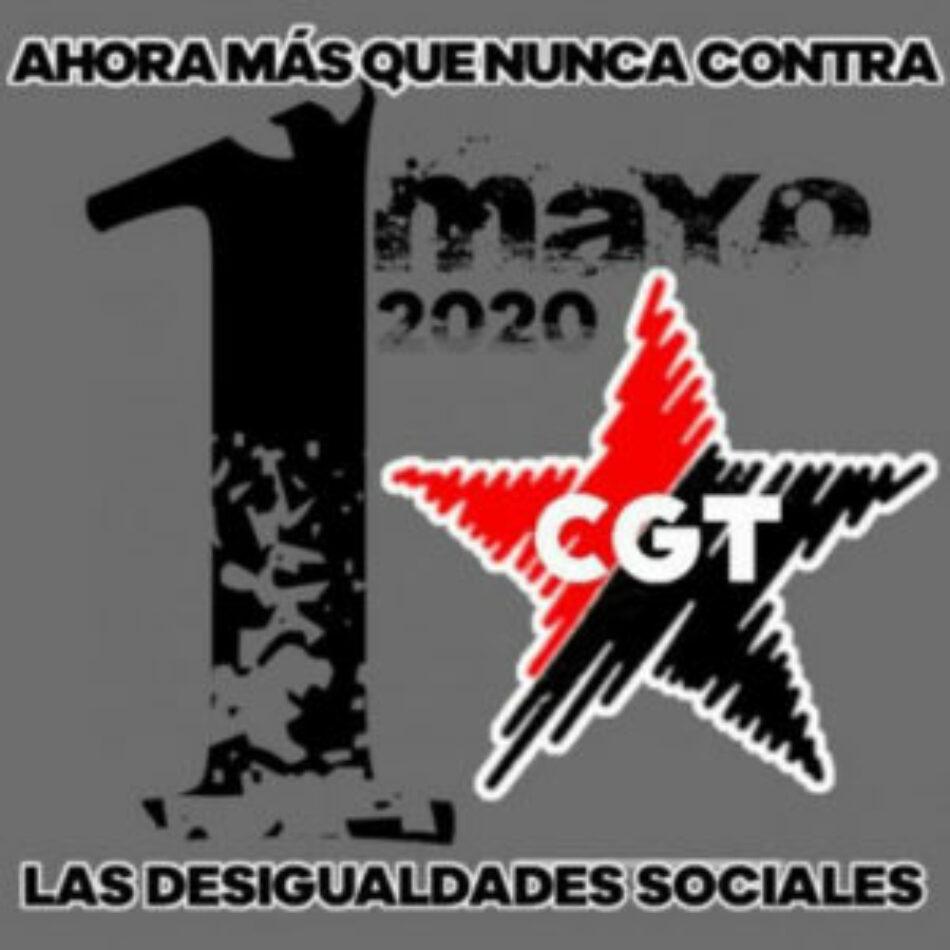 CGTPV: «Este 1º de Mayo CGT en las redes sociales»