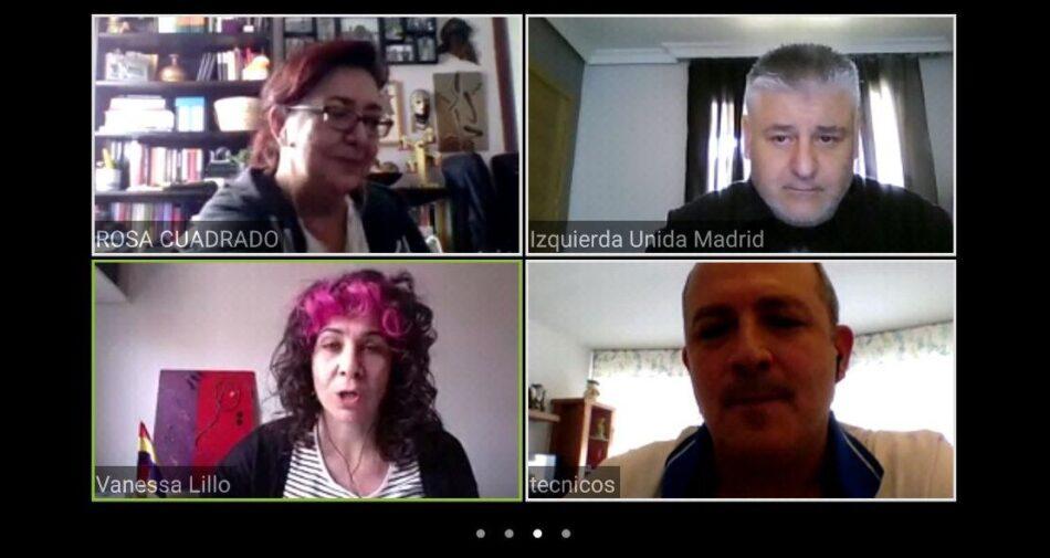 Unidas Podemos Izquierda Unida y CCOO Sanidad Madrid mantienen una reunión para compartir impresiones y propuestas de cara a la salida de la crisis sanitaria