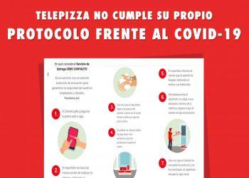 Telepizza en lucha denuncia los ERTEs en Telepizza y la falta de prevención de riesgos laborales en las tiendas que siguen abiertas