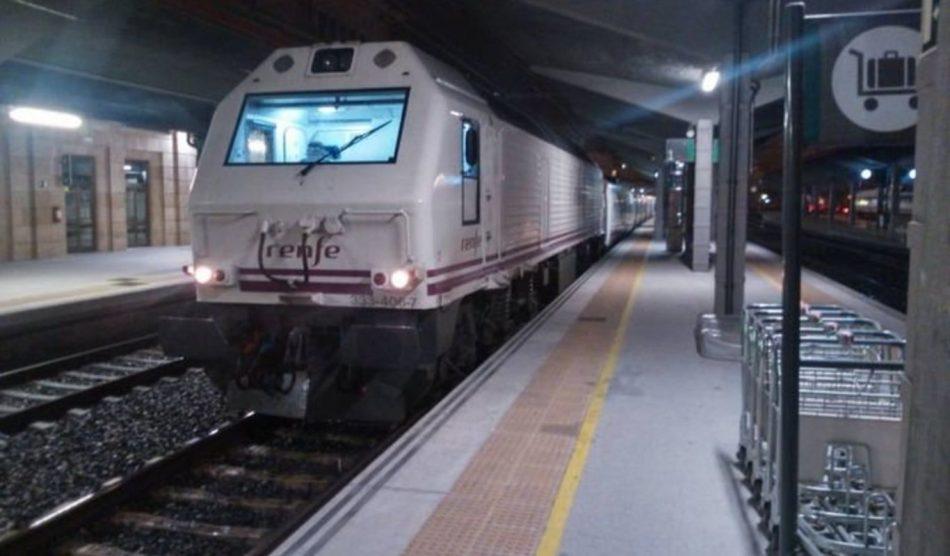 Esquerda Unida esixe que RENFE repoña as liñas nocturnas entre Galicia, Madrid e Barcelona