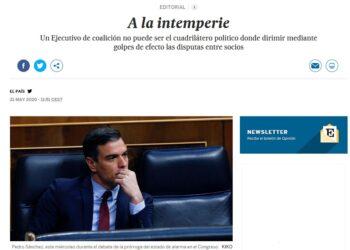 El País pide dimisiones a Sánchez… Pues que dimita Calviño
