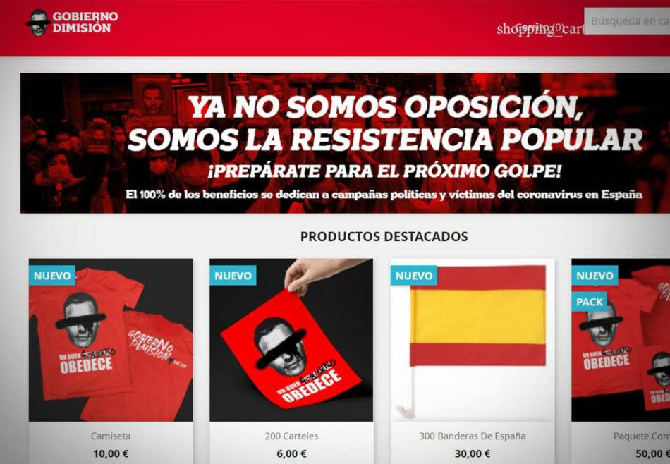 Una denuncia de FACUA revela que la propietaria de la web 'Gobierno Dimisión' es una inmobiliaria