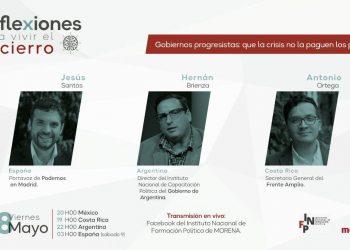 """Jesús Santos tacha de """"modelo fracasado"""" los últimos 25 años del PP en Madrid durante una conferencia del Instituto de Formación Política de Morena"""