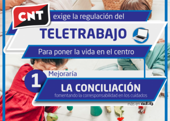 CNT reclama una regulación legal urgente del teletrabajo