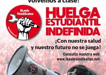 No volvemos a clase: huelga estudiantil indefinida en Euskadi y documento para debatir en el Consejo Escolar del Estado