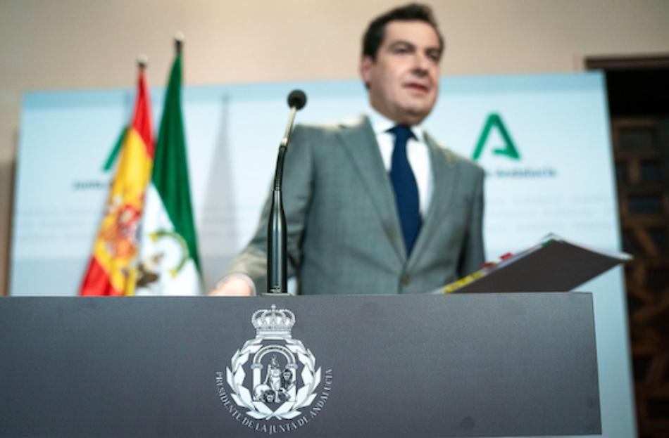 El SAT denunciará a Moreno Bonilla por cambiar ilegalmente el escudo de Andalucía y vulnerar el Estatuto de la Comunidad