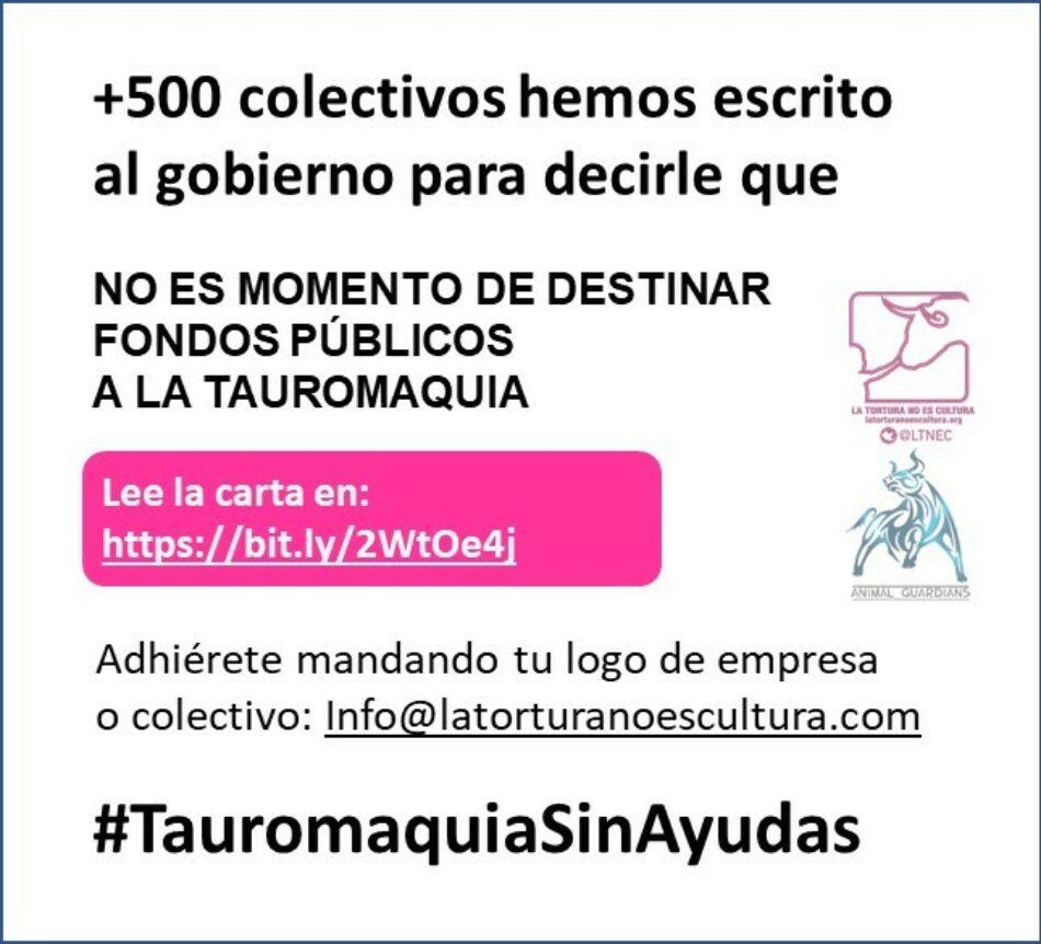 «Más de 500 colectivos enviamos una carta al gobierno sobre las posibles ayudas a la tauromaquia»