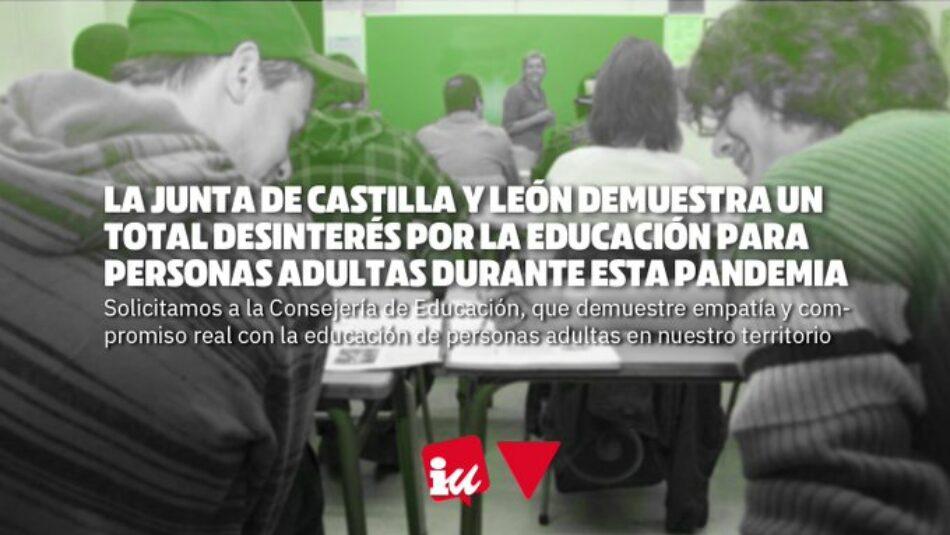 «La Junta de Castilla y León demuestra un total desinterés por la Educación para personas adultas durante esta pandemia»