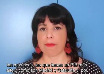 Teresa Rodríguez pide que el reparto de fondos estatales se calcule en función de las dificultades socieconómicas de cada territorio