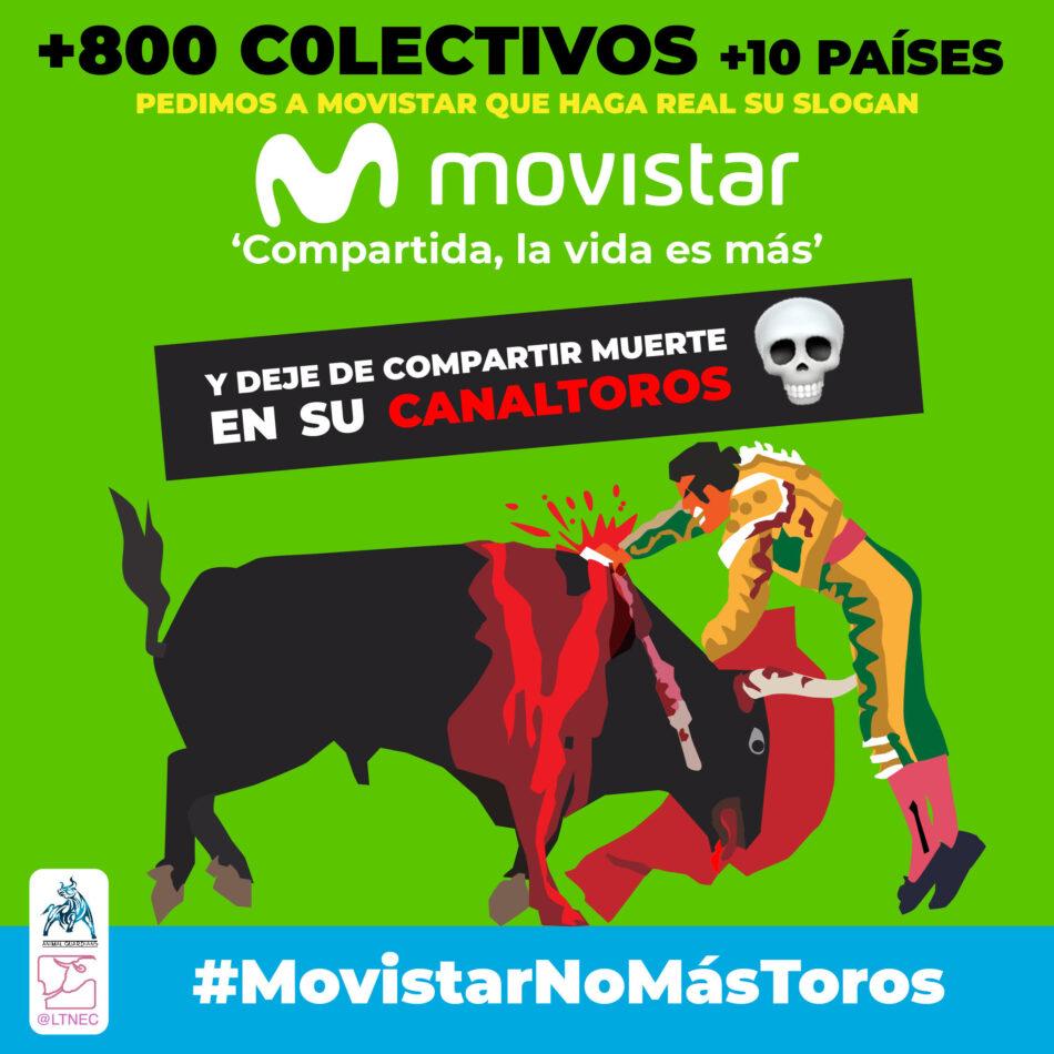 Cientos de organizaciones de 15 países piden a Movistar que no transmita corridas a puerta cerrada y cierre Toro TV