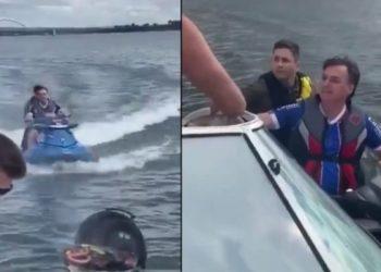 En un paseo en moto de agua, Bolsonaro vuelve a relativizar la pandemia: «una neurosis»