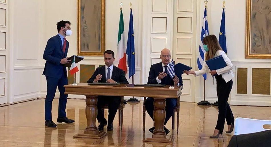 Grecia e Italia anuncian un acuerdo sobre una zona económica exclusiva