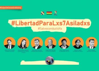 Lanzan campaña en apoyo a asilados bolivianos en embajada de México