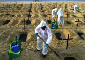Brasil es ya el segundo país con más muertes por Covid-19