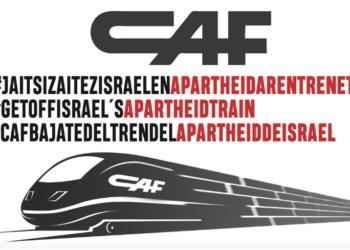 Frente a la junta de accionistas de CAF, ¡alza tu voz y pide a CAF que se retire del tren del apartheid israelí!