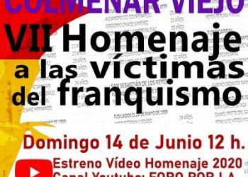 VII Homenaje a las Víctimas del franquismo en Colmenar Viejo (Madrid)
