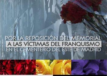 Acto homenaje (ofrenda floral) a las víctimas del Franquismo en el Cementerio del Este