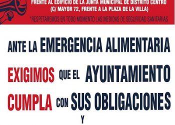 Reclaman a la Junta de Centro de Madrid que refuerza los Servicios Sociales para poder hacer frente a la emergencia alimentaria