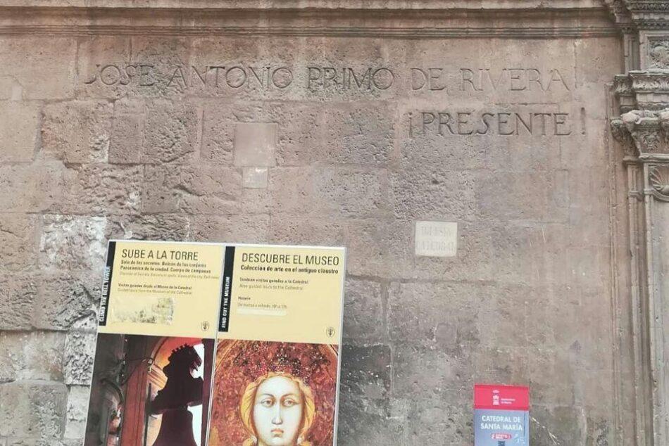 IU-Verdes Murcia exige el cumplimiento de la Ley de Memoria Histórica y retire la simbología franquista de las calles de Murcia