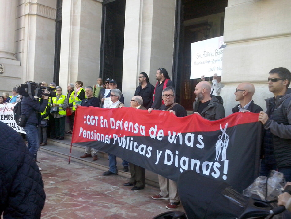 La asamblea de pensionistas de CGT se suma a la convocatoria de COESPE